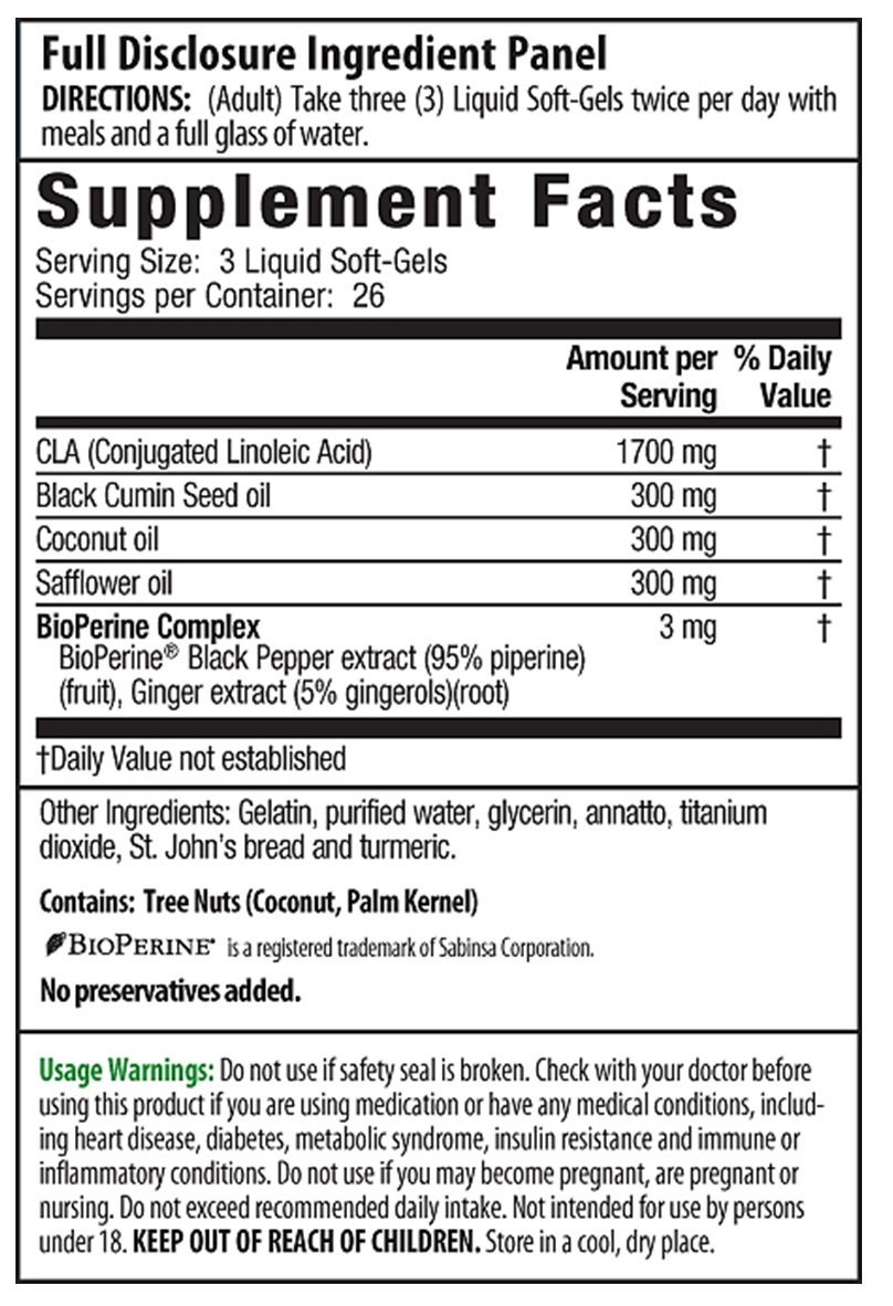 Irwin Naturals CLA Lean Body Fat Reduction, 80 Liquid Soft-Gels (Pack of 2)