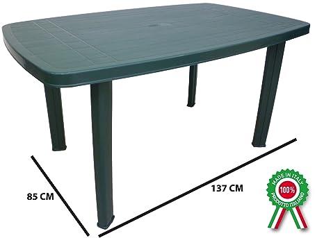 Tavolo Giardino Plastica Verde.Tavolo Tavolino Rettangolare In Resina Di Plastica Verde Faro Per