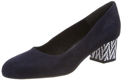 22305, Escarpins Femme, Noir (Blk Uni Leath.), 37 EUTamaris