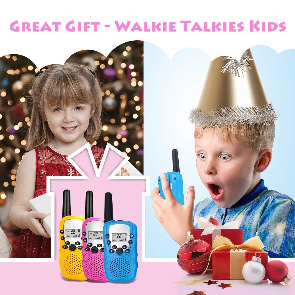 Moglor Walkie Talkie Bambini 22 Canali VOX Ricetrasmittenti Walky Talky Radioline Walkie Talkie