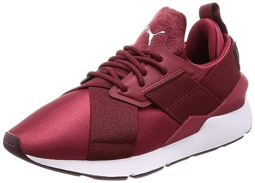 0fc124cdaa7e4c Puma Damen Sneakers Muse Satin II weiß 38  Amazon.de  Schuhe ...