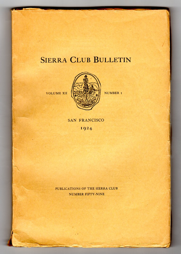 sierra club bulletin volume xii number 1 1924 very early ansel adams photo john muir portrait fold out map mount goddard simpson meadow