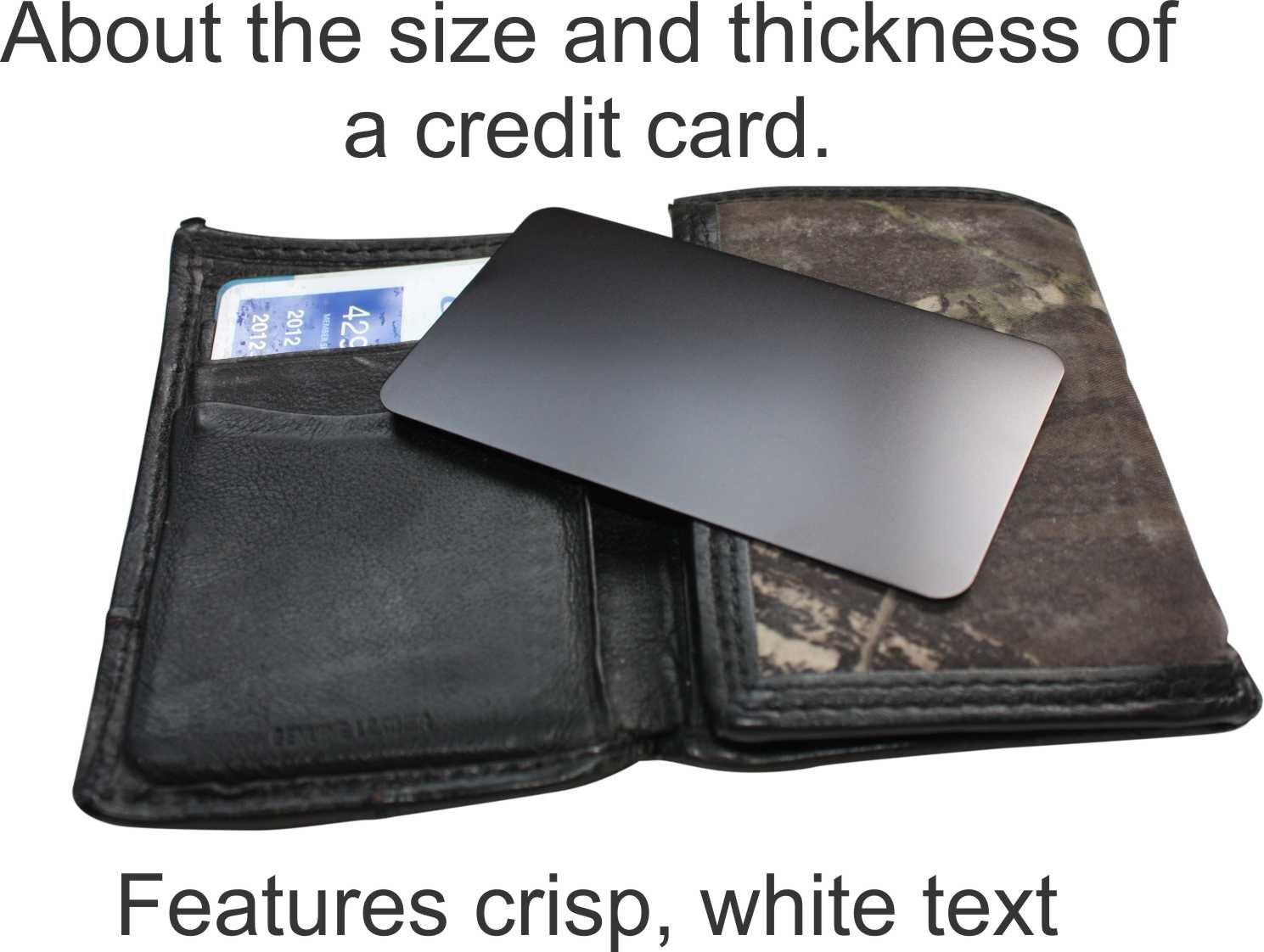 изделия ручной работы Engraved Aluminum Wallet