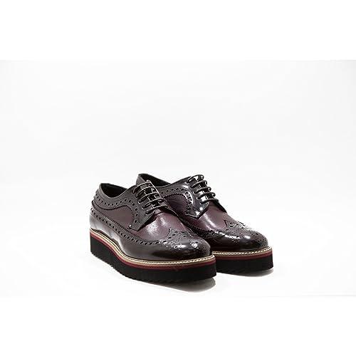 Stringate Donna Scarpe Inglesi in Pelle Artigianali Bordeaux Scarpe  Inglesine Donna Calzature Italiane Woman Shoes Lace 5d6de120a69