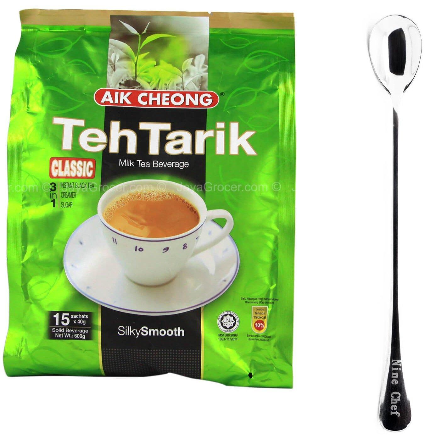 Aik Cheong Classic 3in1 Teh Tarik Milk Tea Beverage (6 Pack)+ one NineChef Spoon