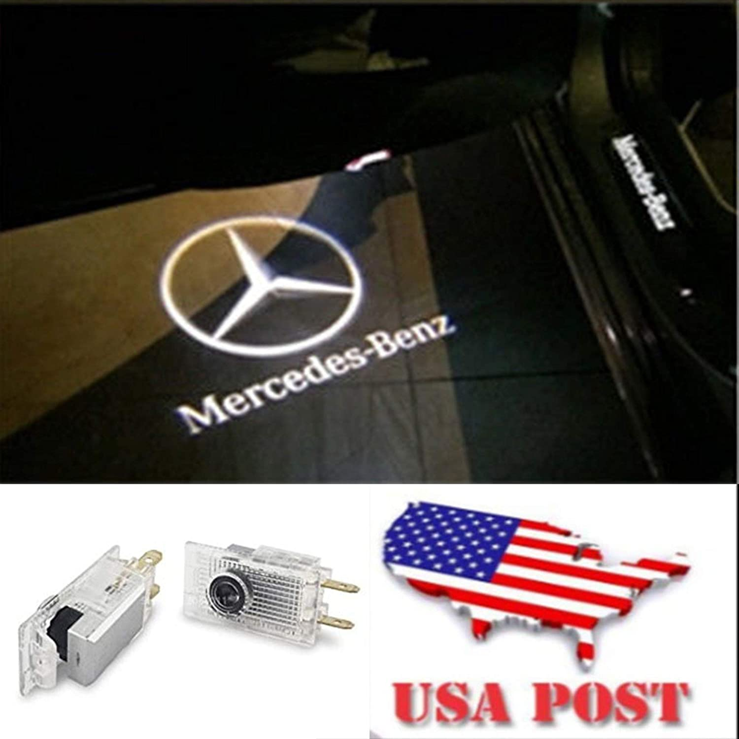 CNAutoLicht 2X Cree LED Door Step Courtesy Light Welcome Light Laser Shadow Logo Projector Lamp For Mercedes Benz W210 E200 E220 E230 E240 E250 E270 E280 E290 E300 E320 E430 E36 AMG E55 AMG 95-02#2