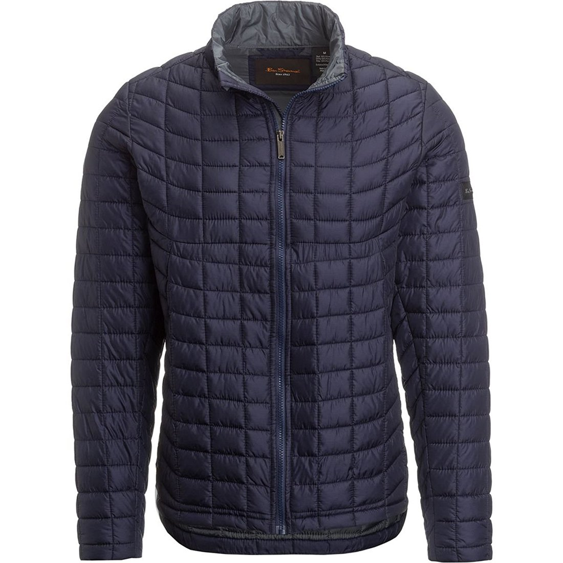 Ben Sherman Mens Quilted Signature Coat Navy M