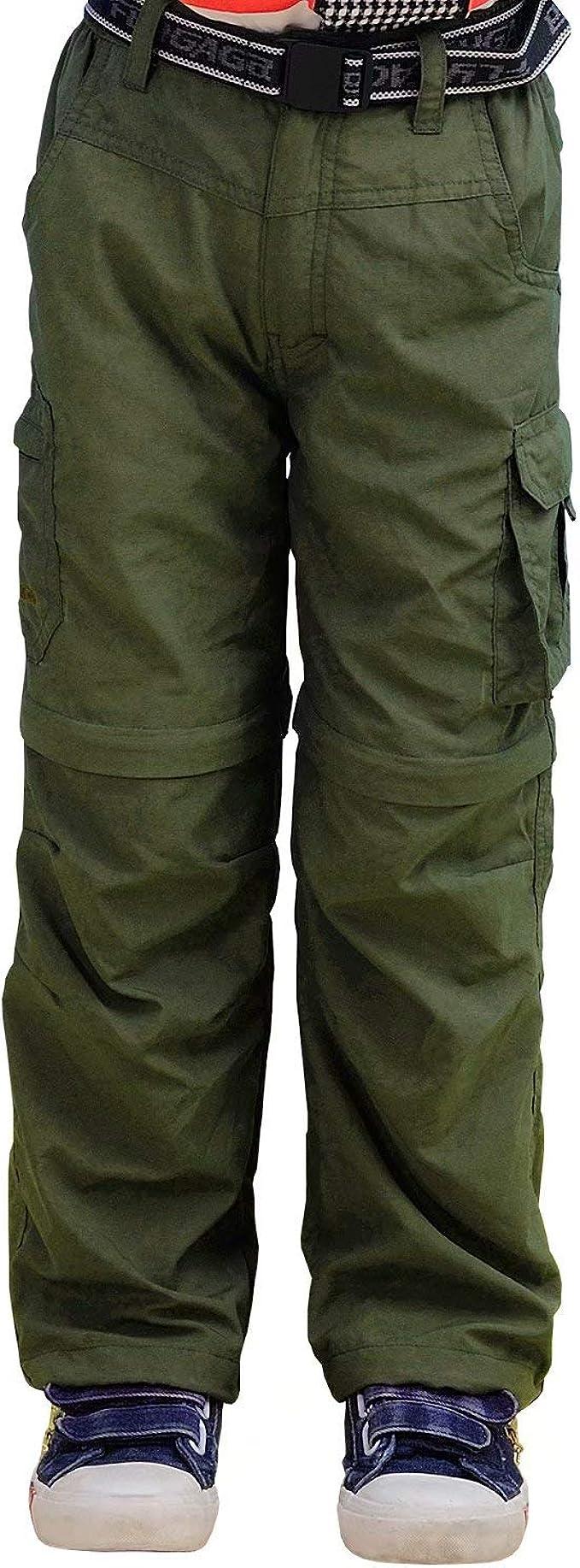 JOMLUN Boy/'s Casual Quick Dry Outdoor Pants Hiking Climbing Trouser Zip Off Pants Kids Cargo Pants