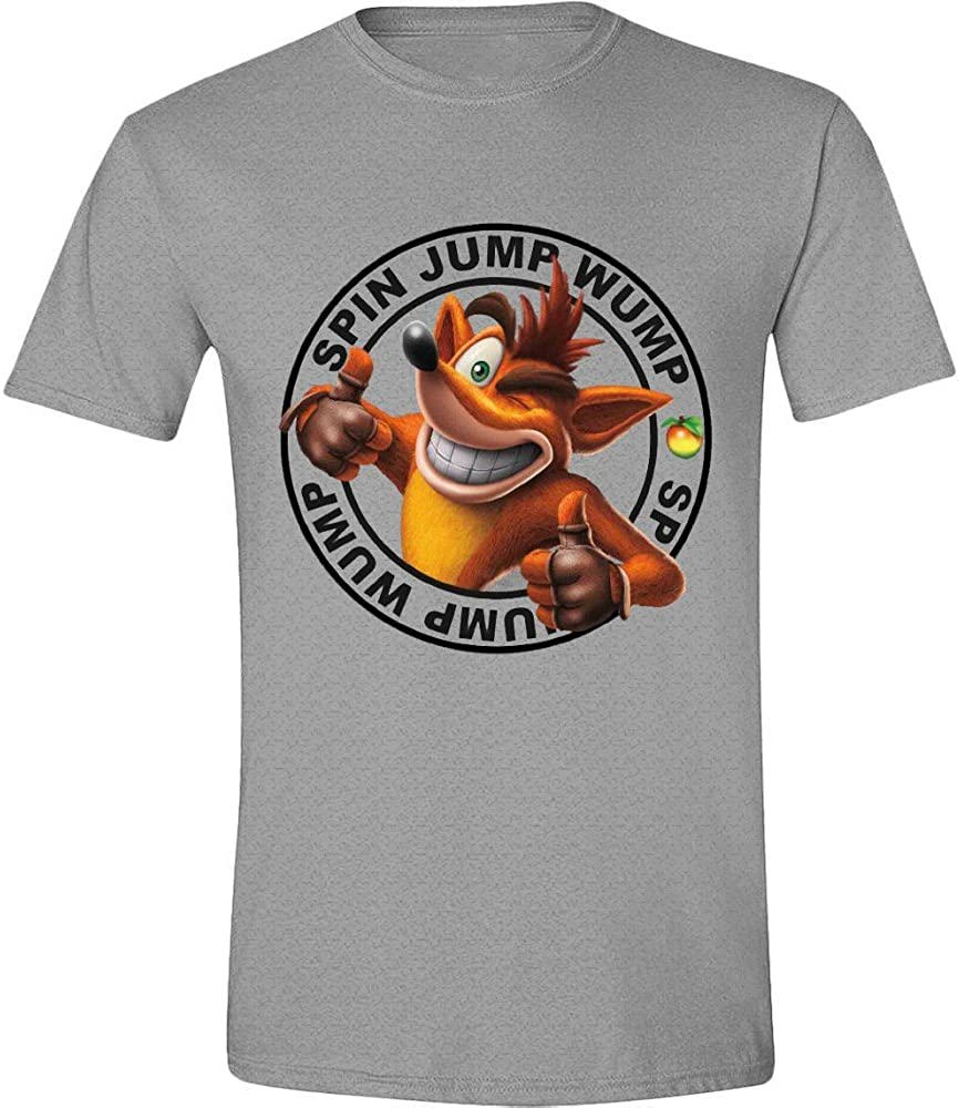 Crash Bandicoot - Jump Wump Crash Hombres Camiseta - Gris Heather