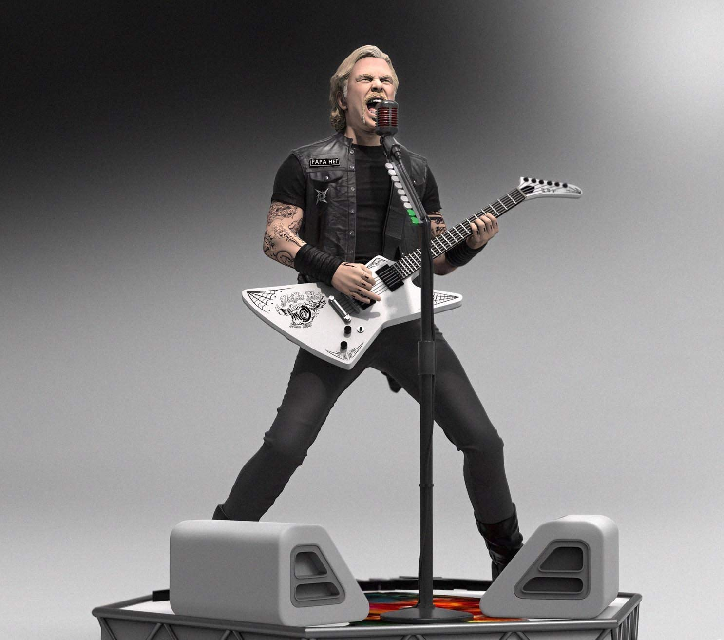 Knucklebonz - James Hetfield (Metallica) Limited Edition Collectible Statue (only 3000 Created) - Rock Iconz, Officially Licensed, Includes CoA