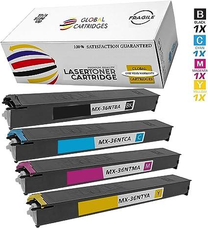 SHARP MX36NTYA YELLOW TONER CARTRIDGE FOR MX2610//3110N//3610N//2615N