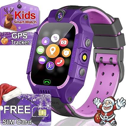 Amazon.com: Reloj inteligente para niños con GPS, para niños ...