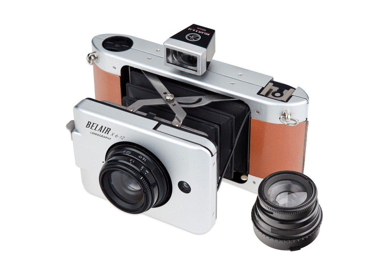 Lomography Belair X 6-12 Jetsetter Medium Format Folding Camera - Metal/Leather (Silver/Brown)