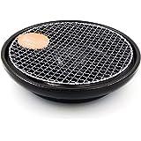 萬古焼 煙の出にくい遠赤焼肉鍋 焼肉コンロ (アミ付) 簡単卓上焼肉器 陶製