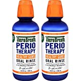 TheraBreath Dentist Recommended PerioTherapy HEALTHY GUMS Oral Rinse with ZINC and TEA TREE OIL. CERTIFIED VEGAN, GLUTEN FREE and KOSHER. 16.9 Ounce