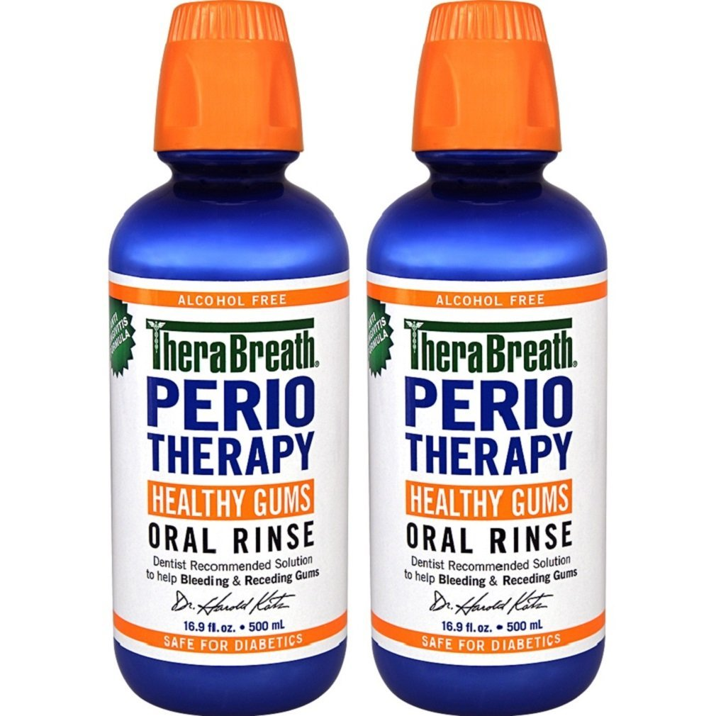 TheraBreath Dentist Formulated PerioTherapy HEALTHY GUMS Oral Rinse, 16.9 Ounce (Pack of 2) by TheraBreath
