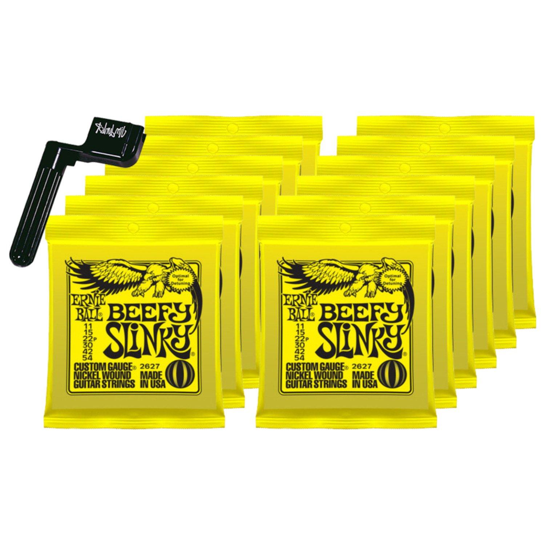 Amazon.com: 12 SETS Ernie Ball 2627 Nickel Beefy Slinky Drop Tuning  Electric Guitar Strings: Beauty