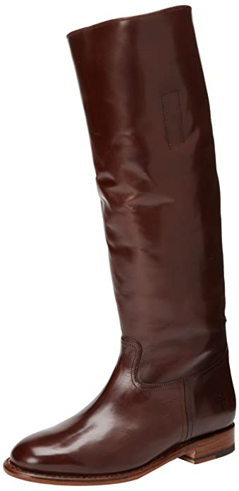 e5bddafa4cea4 Amazon.com | FRYE Women's Abigail Riding Polished Boot | Knee-High