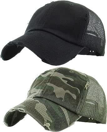 TCJX Gym Hair Dont Care Mesh Baseball Cap Girls Adjustable Trucker Hat Sky Blue