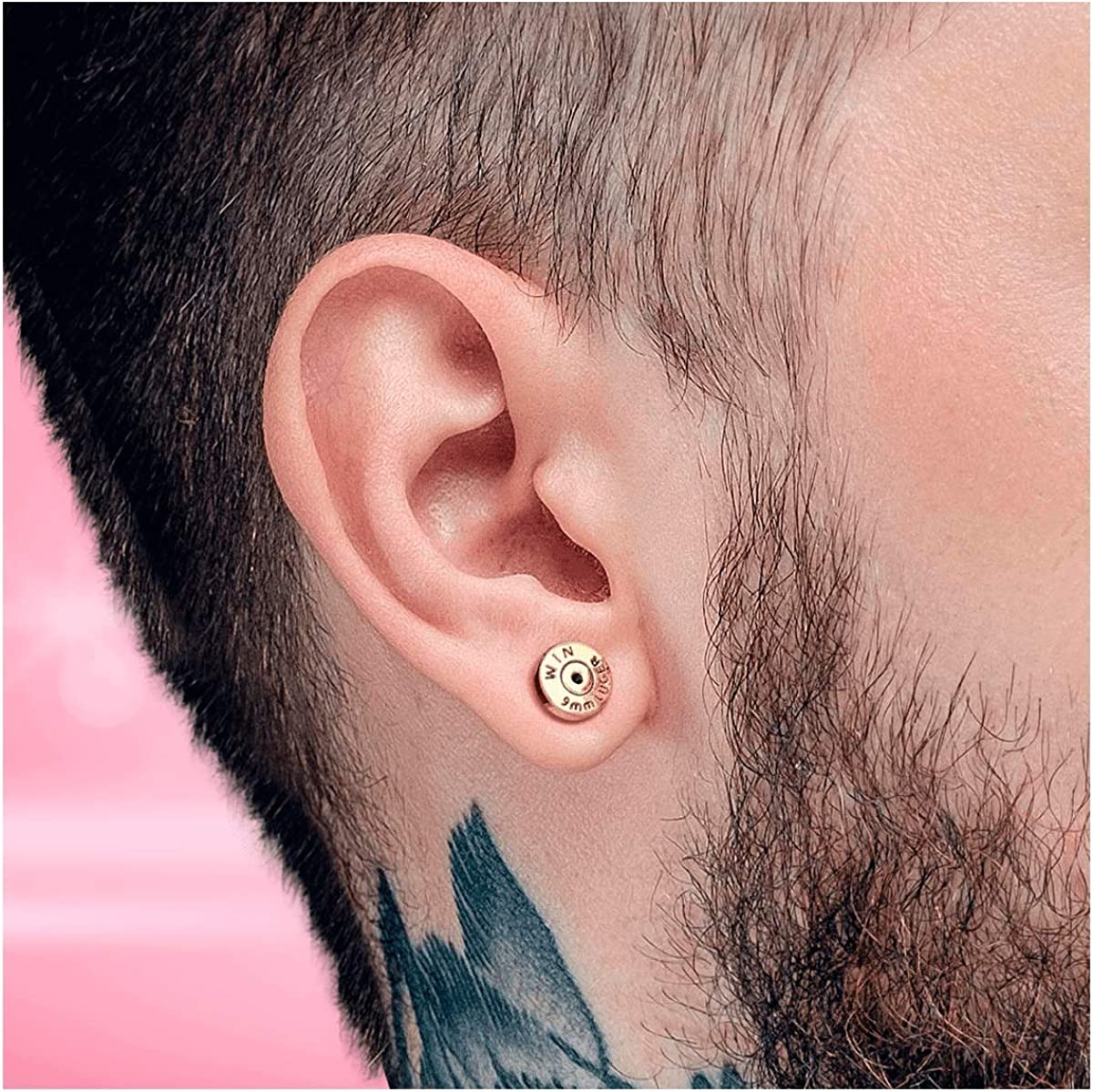 Internally Threaded Labret Ear Cartilage Stud with Bullet Back Casing Design Sur