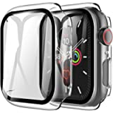 LK [2 Pack] Case for Apple Watch 38mm Series 4/5 Built-in Tempered Glass Screen Protector, Hard PC Protector Cover for…