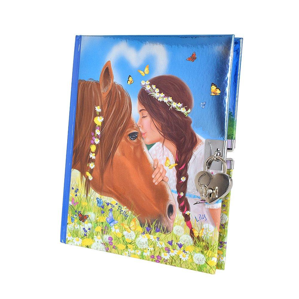 Miss Melody Journal avec Autocollants Motif 1, Cheval, Filles, 6367