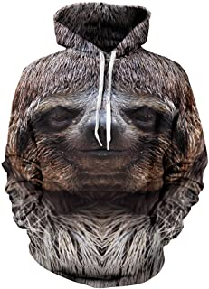 product image for Beloved Shirts Happy Sloth Hoodie - Premium All Over Print Graphic Hoodies