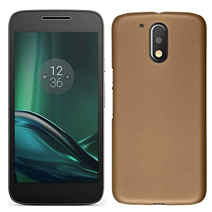 save off 17632 26000 Moto G4 Play Back Cover - Golden
