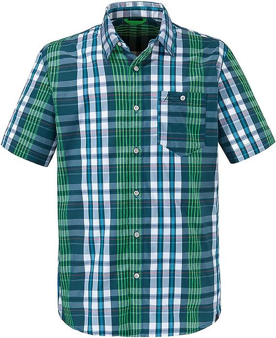 Schöffel Shirt Kuopio 3 kurzarm Hemd Freizeithemd Herrenhemd Wanderhemd