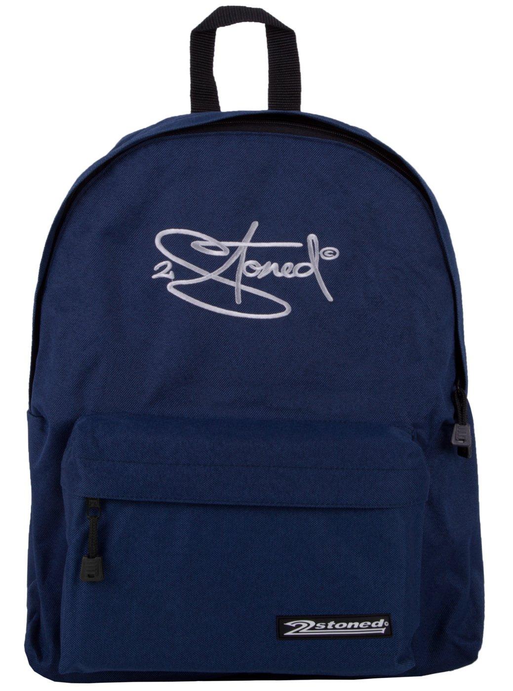2Stoned Original Freizeitrucksack mit Stickmotiv in 5 Farben + Einlegeboden 2-stoned Wear 2010