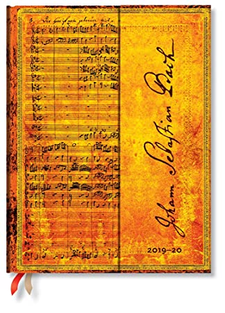 Paperblanks - Planificador y calendario de 18 meses [julio 2019 - diciembre 202020], Kantate BWV 112, semana tras semana (vertical), Ultra (230 x 180 ...