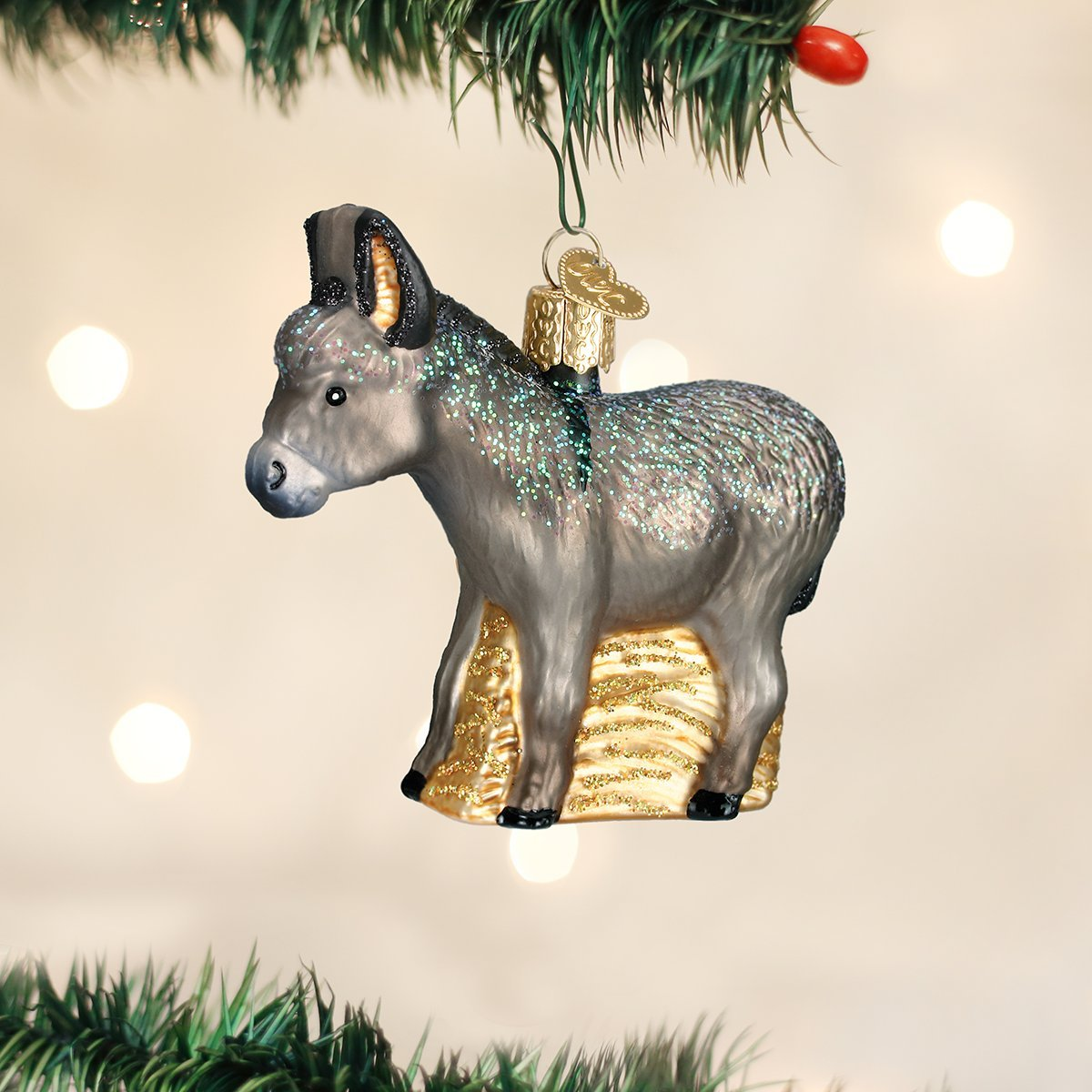 Donkey ornaments - Amazon Com Old World Christmas Donkey Glass Blown Ornament Home Kitchen