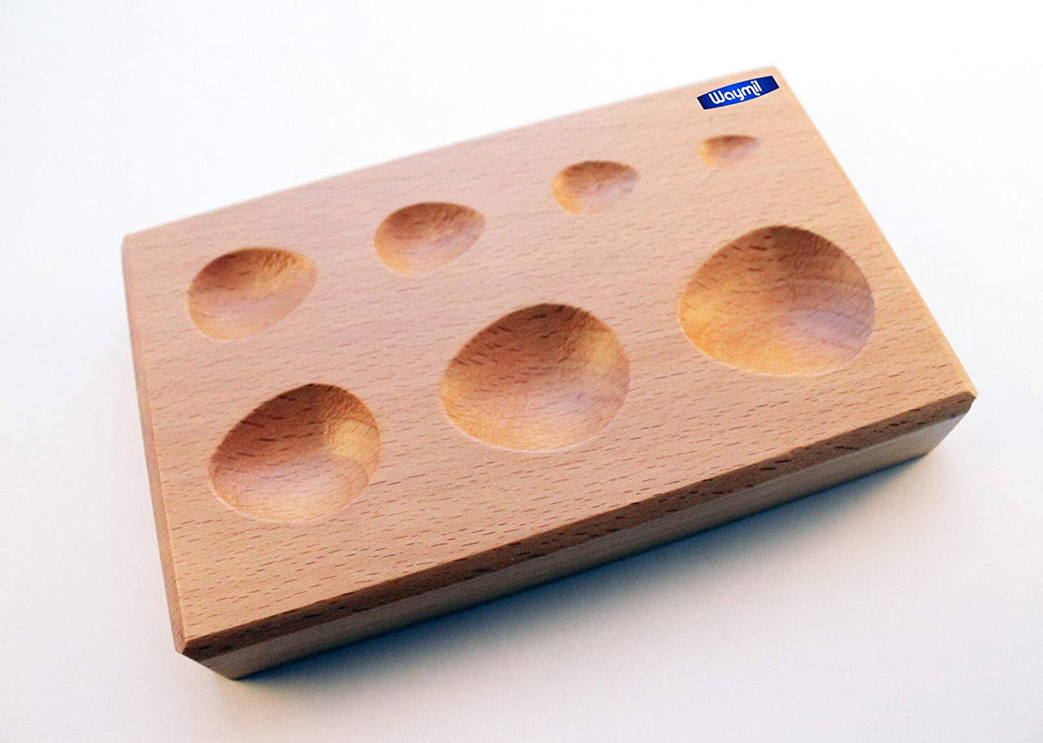 STAR FORMING BLOCK WOOD DAPPING WOODEN SHAPING TOOL JEWELRY FORMS SHAPE 7 SIZES