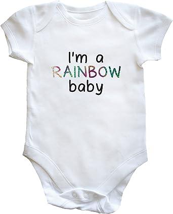 Short Sleeve Boys Girls Hippowarehouse My Little Rainbow Baby Baby Vest Bodysuit