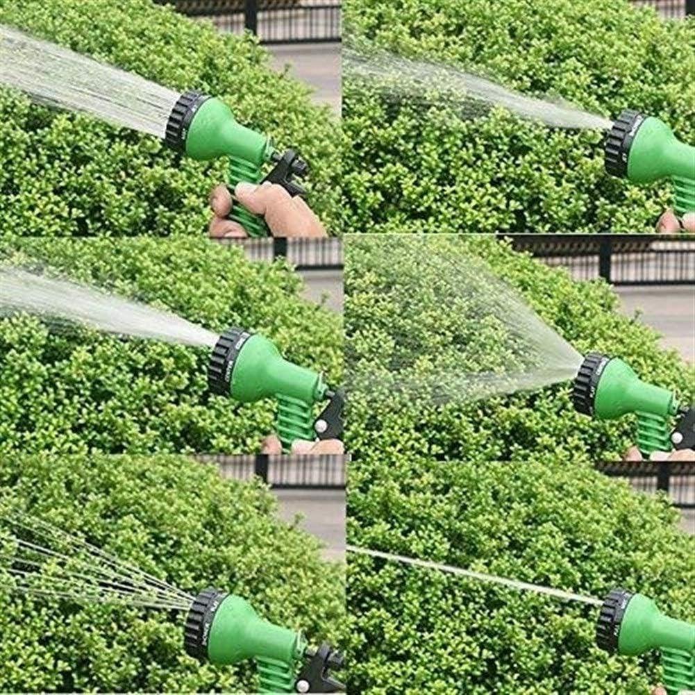 GJNVBDZSF Expandable Garden Hose Magic Flexible Water Hose EU Hose Plastic Hoses Pipe With Spray Gun To Watering Car Wash Spray Green200ft