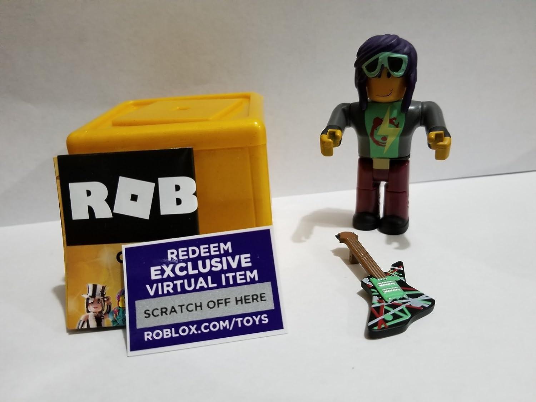 Amazon com: ROBLOX GOLD Celebrity Series Rockstar action