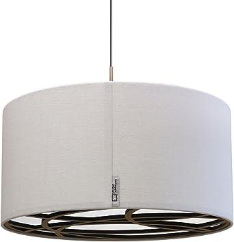 Studio Zapp riani sombrero b70h25 a, pantalla de lámpara techo techo, textura, 60 W, E27, natural, 70 x 25 cm: Amazon.es: Iluminación