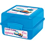 Sistema Lunch Collection Lunch Cube Food Storage Container, 47.3 Ounces/ 6 Cup, Assorted Colors