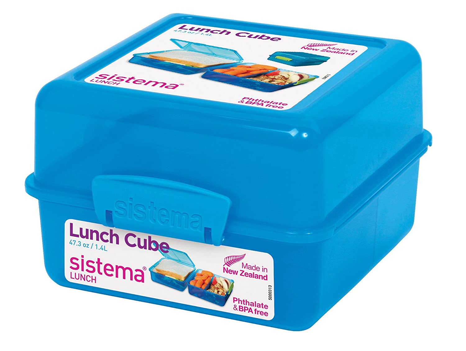 Amazon.com: Sistema Lunch Collection Lunch Cube Food Storage ...