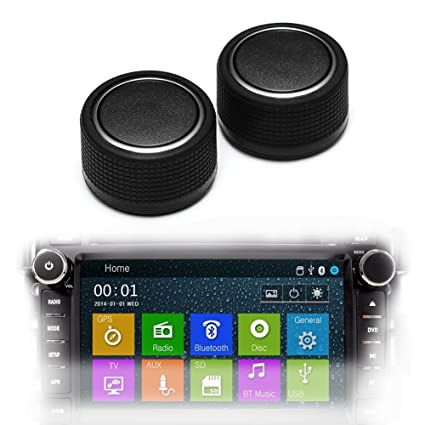 1pc Rear Radio Audio Control Knob Dial Tuner for 07-13 Chevy
