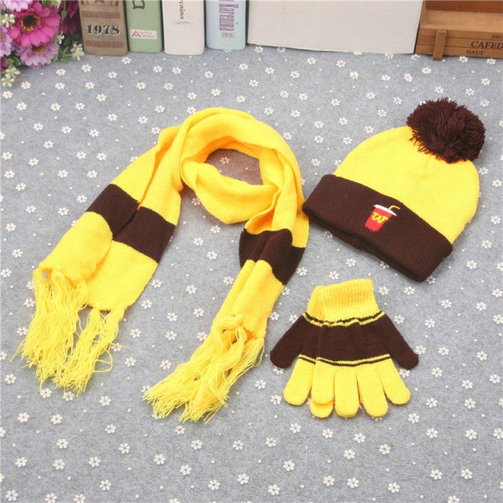 Stts Koreanische Kinder Dreiteilige Warme Winter Plus Samt Jungen und Mädchen Stricken Hut Schal Handschuhe Set B07GPMF54Y Hüte Vollständige Palette von Spezifikationen