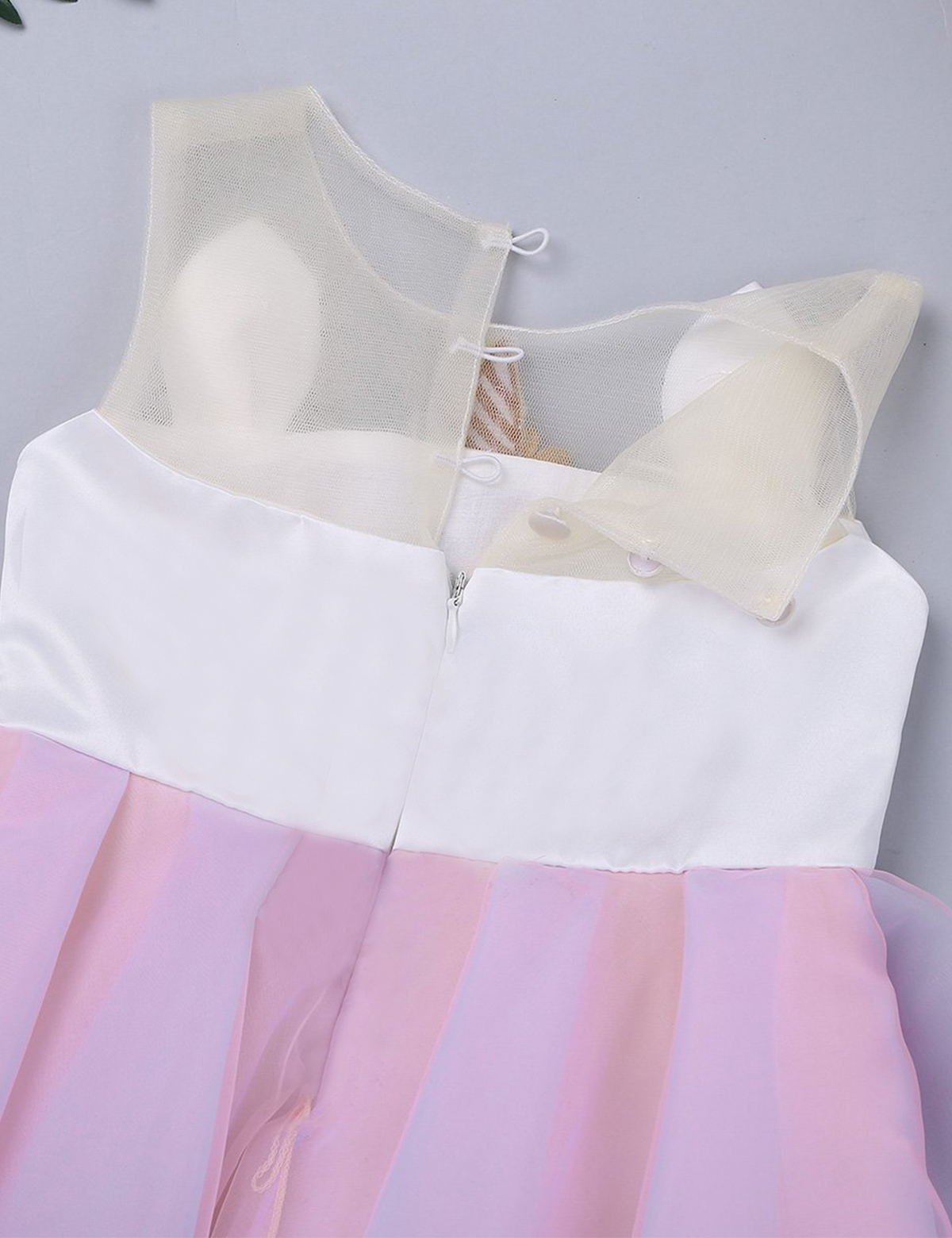 TTYAOVO Kids Unicorn Costume Dress Girl Princess Flower Pageant Party Tutu Dresses Size 5-6 Years Pink by TTYAOVO (Image #5)