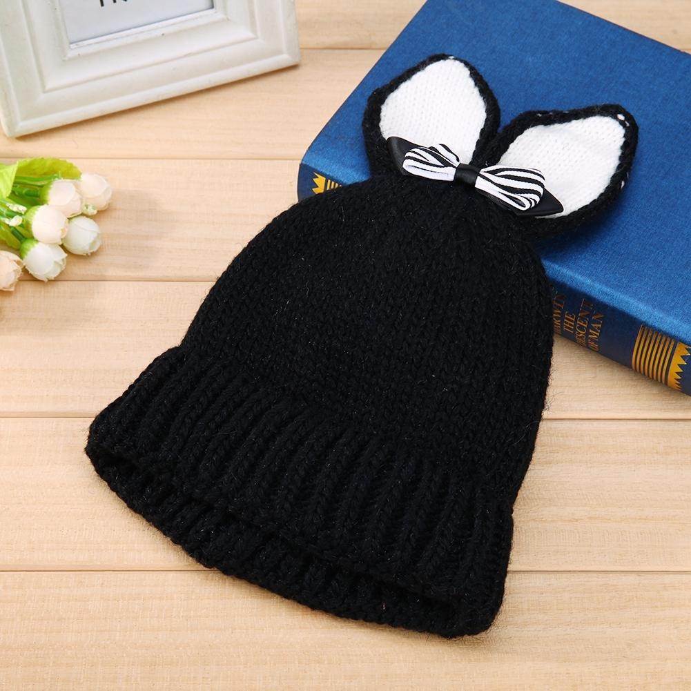 Domybest Cappello Invernale Comodo di Lana a Maglia Cappello Carino a Forma  di Coniglio per Bambini 3042699b5960