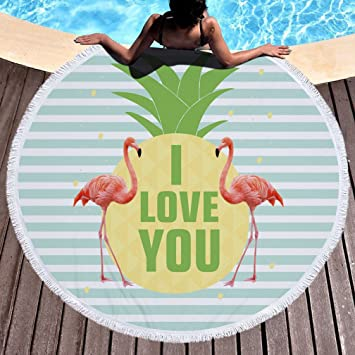 Stillshine Toalla Mandala de Playa Redondo Microfibra con borlas Toalla de Baño Toalla Deportiva de Viaje Mantel de Picnic Pared Colgantes Yoga Alfombras ...