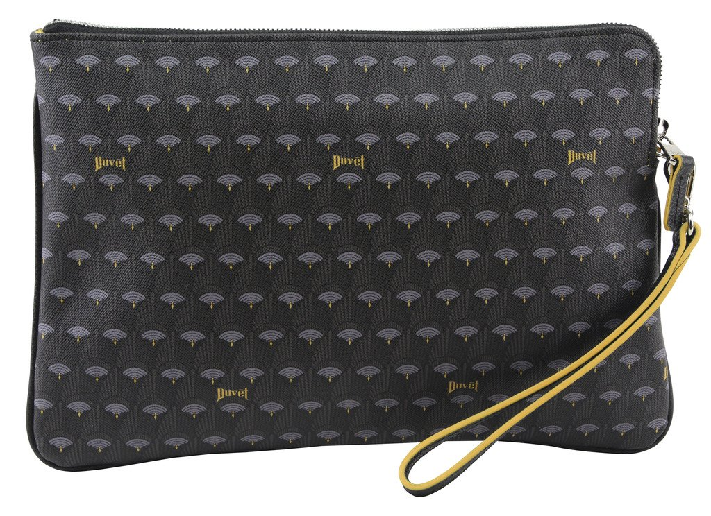 Duvetbag Women's Mini Peacock Clutch Bag, Style D16PB004S, Black by Softbag