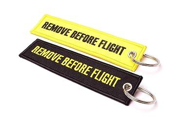 REMOVE BEFORE FLIGHT Llavero - 2 Stk. Set | Original EU ...