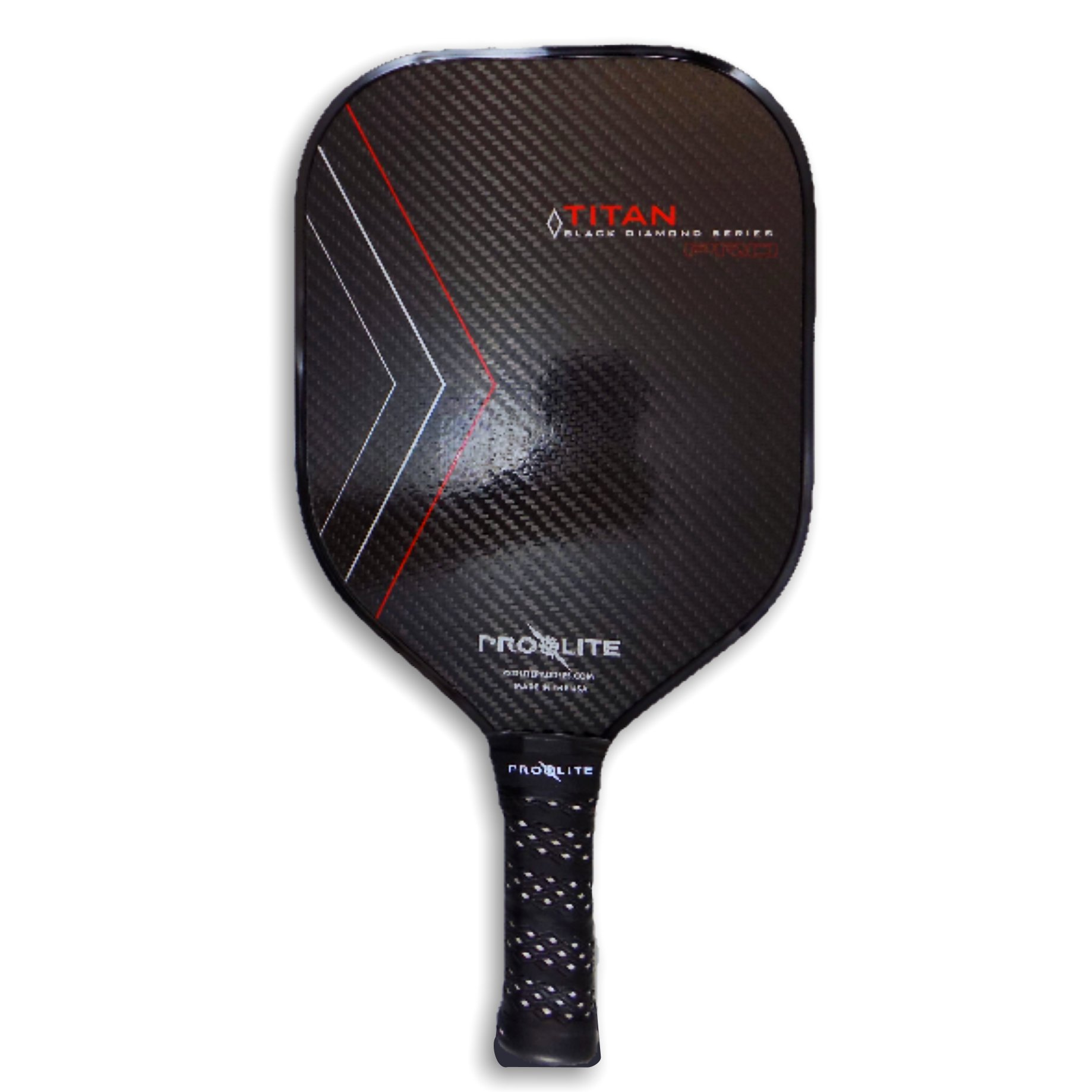 ProLite TITAN Pro - Black Diamond Series - Crimson Pickleball Paddle by Pro-Lite