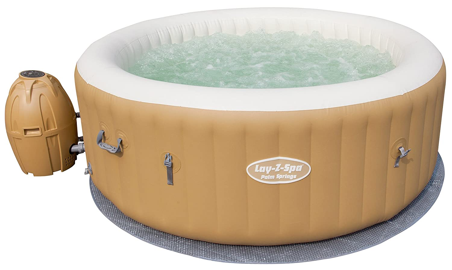 Lay Z Spa Palm Springs Inflatable Portable Hot Tub Spa 4 6 Person