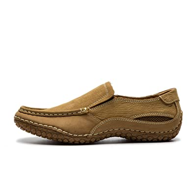 Natural Cow Leather Brand Casual Shoes Winter Breathable Slip On Men'S Loafers