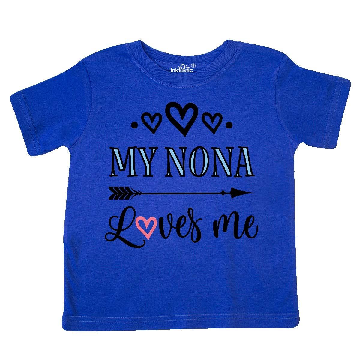 inktastic My Nona Grandma Loves Me Girls Toddler T-Shirt